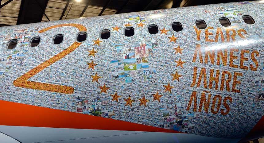 20 ans EasyJet Avion