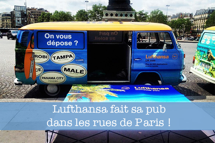 Street Marketing Paris pour la compagnie aérienne Lufthansa