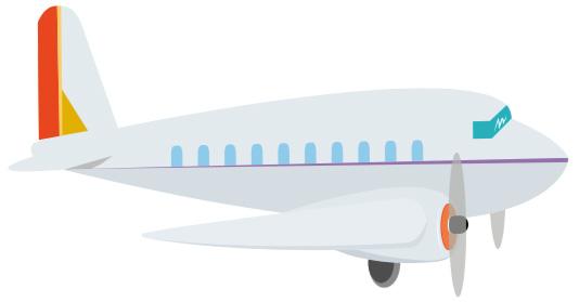 avion de ligne dessin