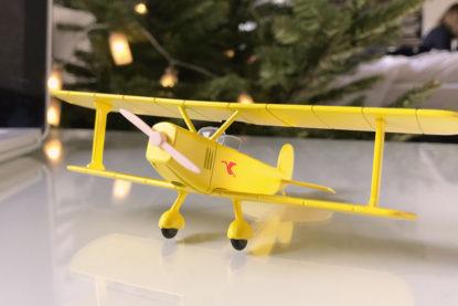 maquette biplan jaune tintin