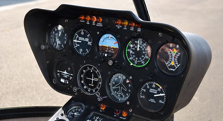 tableau de bord - helicoptere