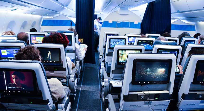 Vol inaugural de l 39 airbus a350 sur air cara bes comme un for Air france vol interieur