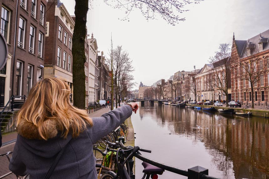 Comme un avion en vélo à Amsterdam