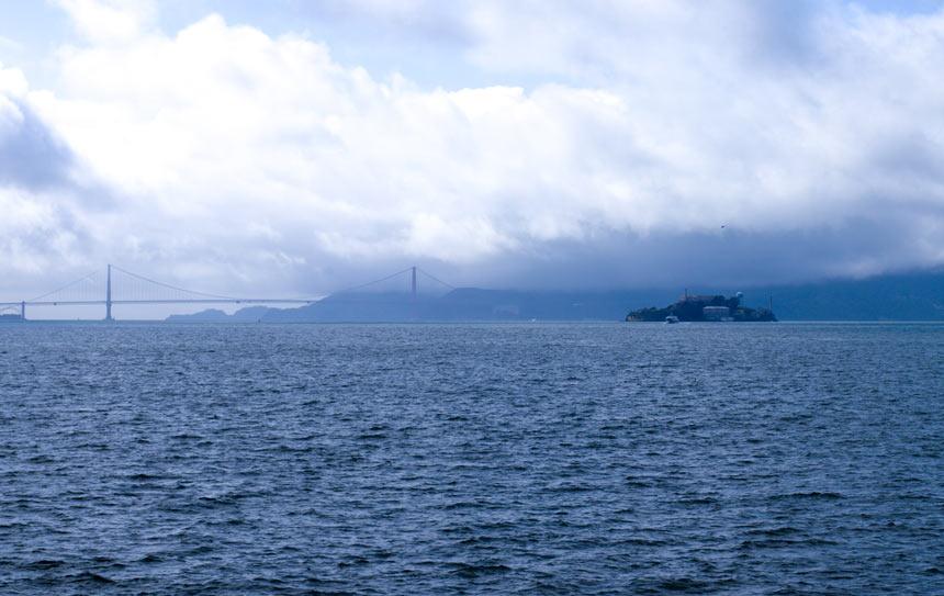 Brouillard Golden Gate Alcatraz