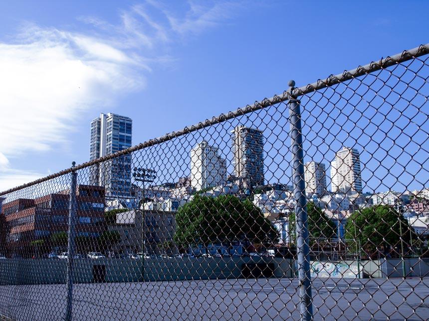 Cour école vue San Francisco