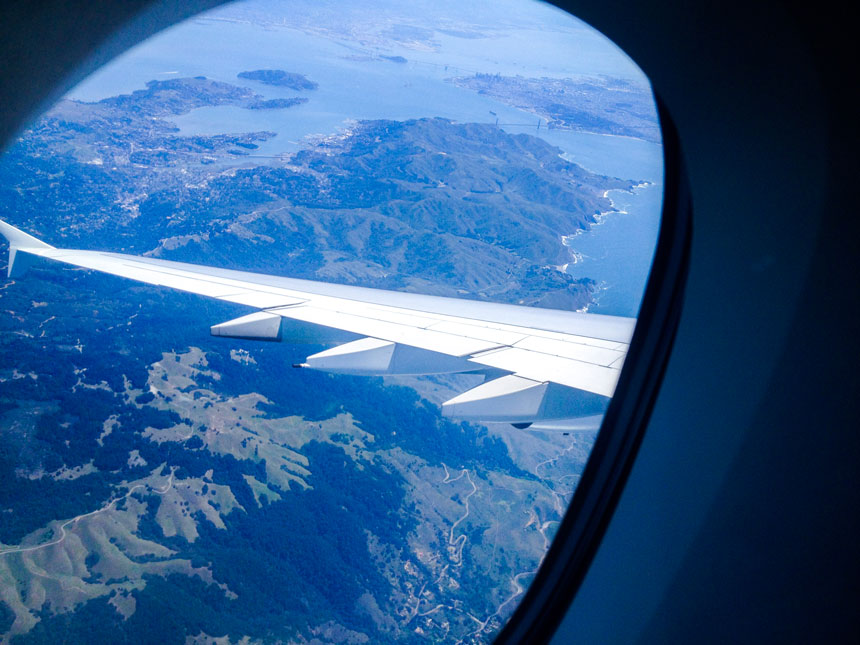 Vue du Golden Gate depuis l'avion