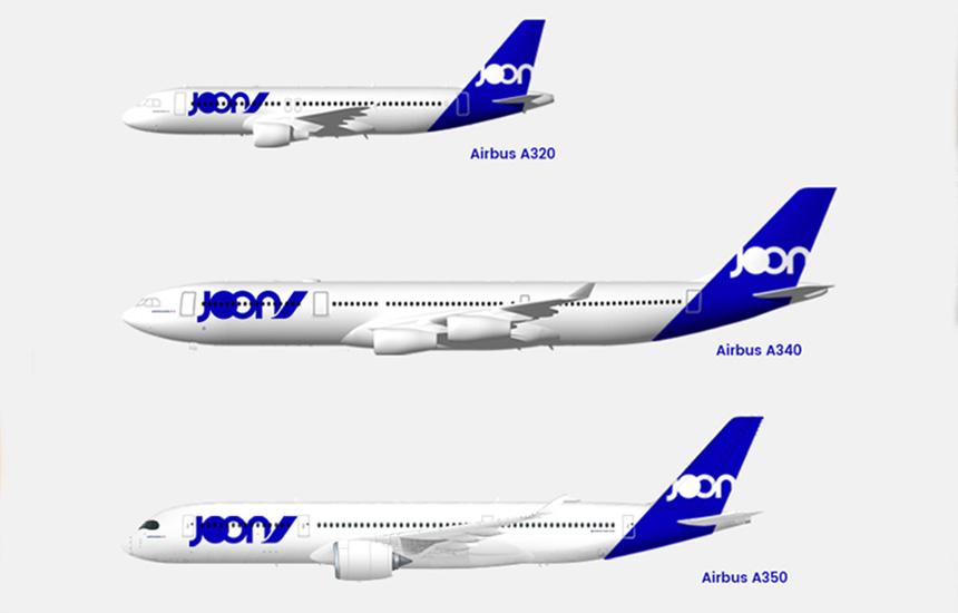 avions joon A320 A340 A350
