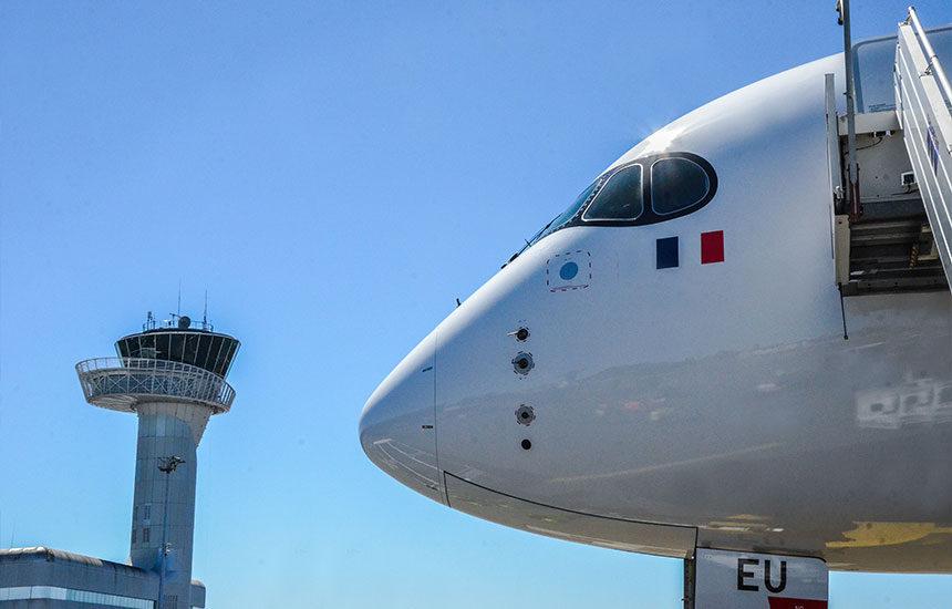 Airbus-A350-earoport-bordaux-vol-inaugural-french-blue