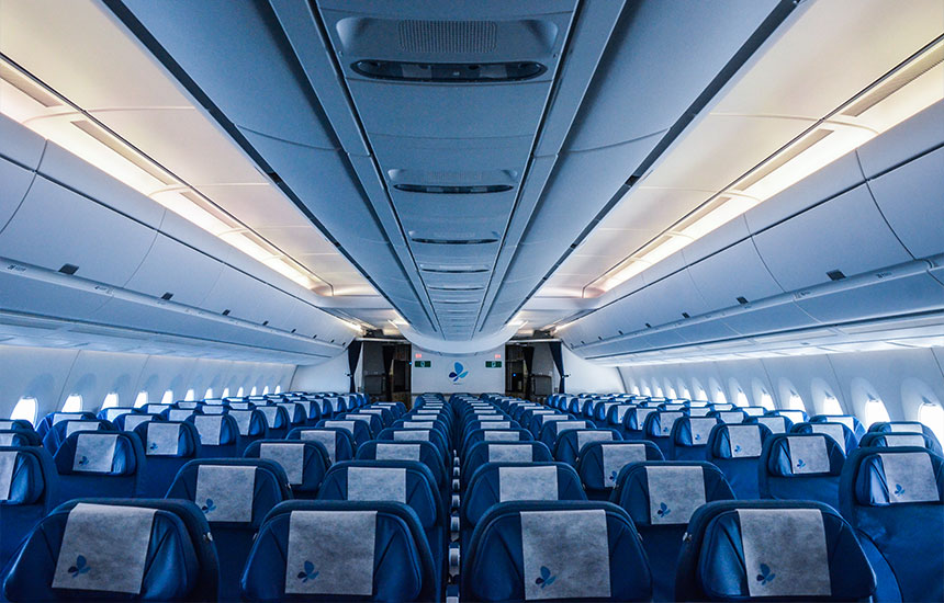 Vol inaugural de l 39 airbus a350 avec french blue comme un for Air france vol interieur