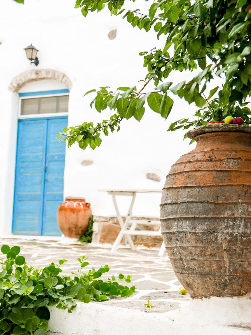 Village de Lefkes à Paros