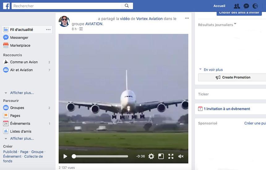 fil actualite facebook avgeek
