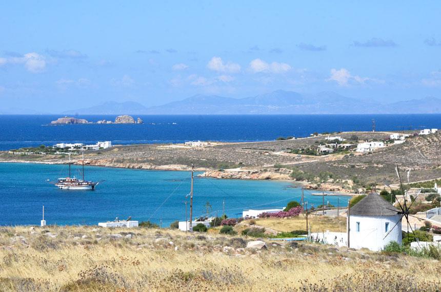 Une des plages de Paros