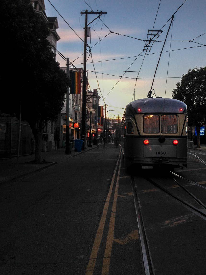 Le muni ou le tram de Castro à San Francisco