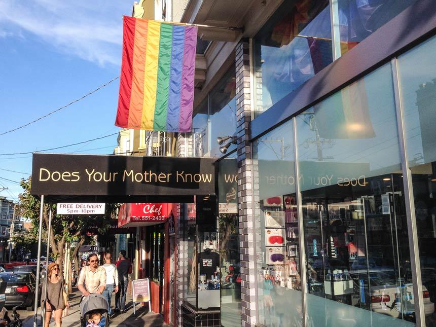 Un sexshop à Castro San Francisco