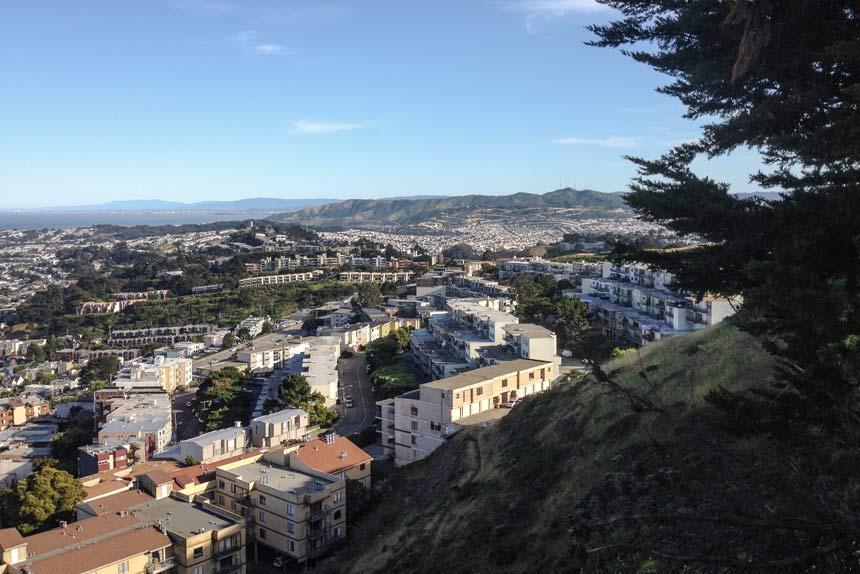La vue de SF depuis Twin Peaks