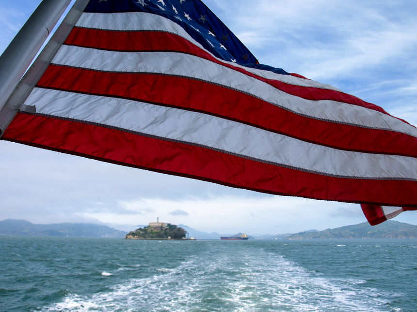 American Flag Alcatraz