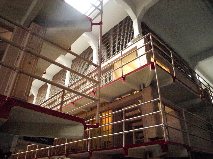 Les cellules de la prison d'Alcatraz