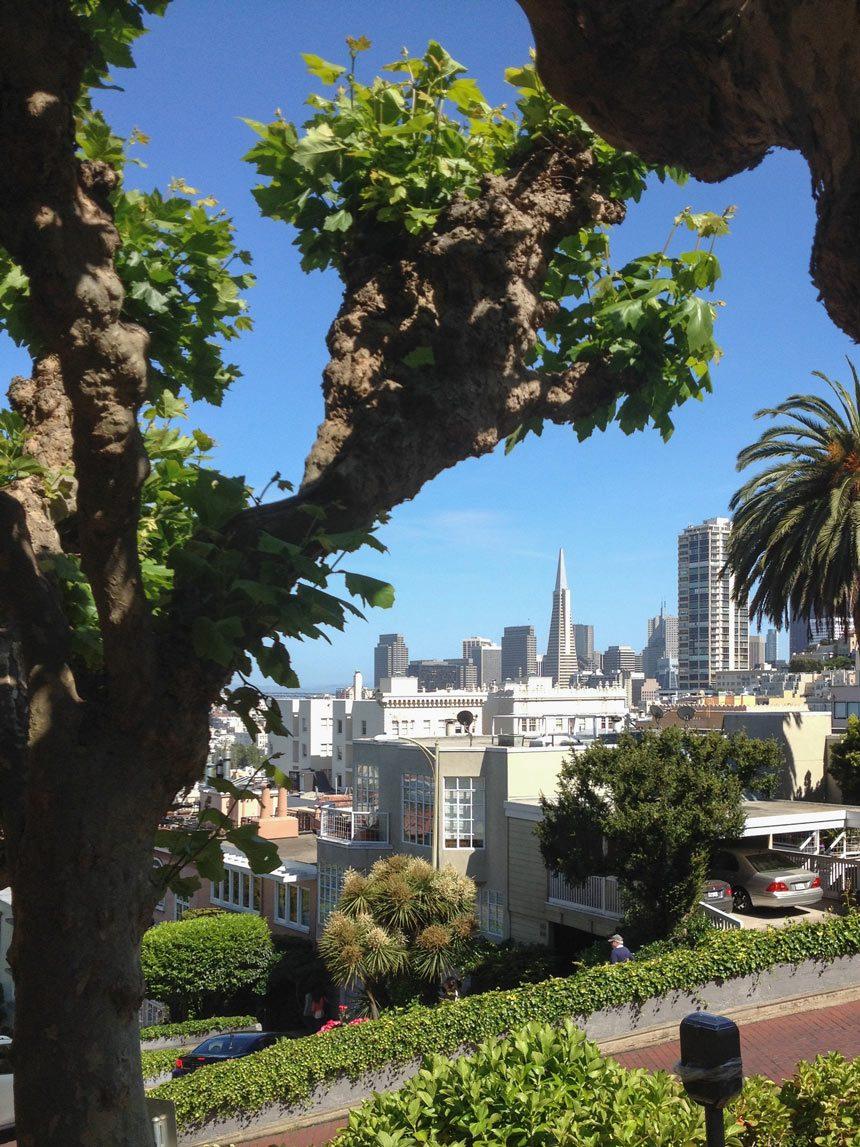 La vue de Lombard Street