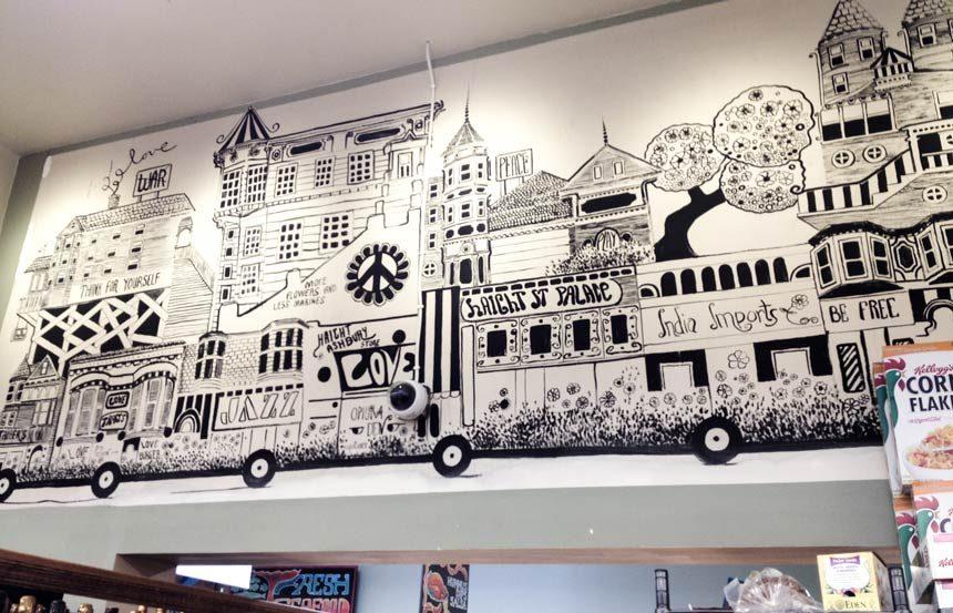 Haight Ashbury San Francisco market art