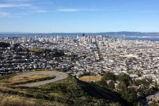 Vue de San Francisco depuis Twin Peaks