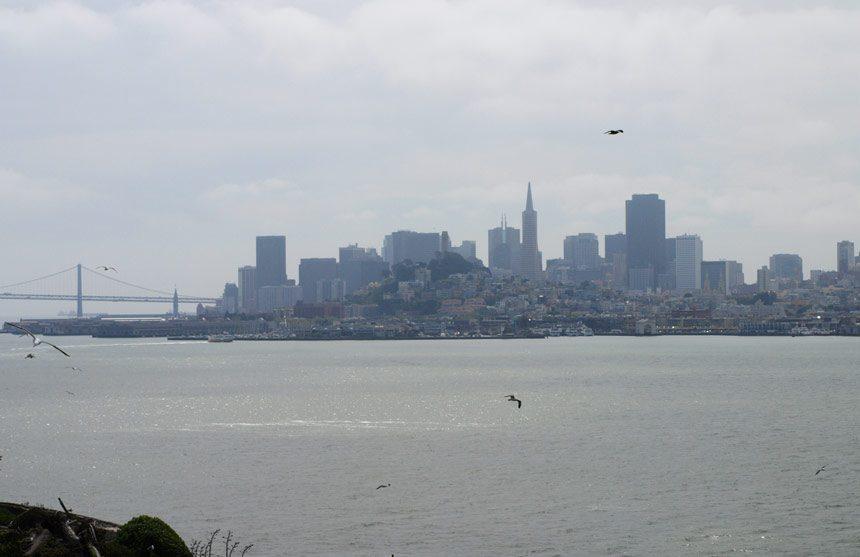 Vue sur San Francisco depuis la prison d'Alcatraz